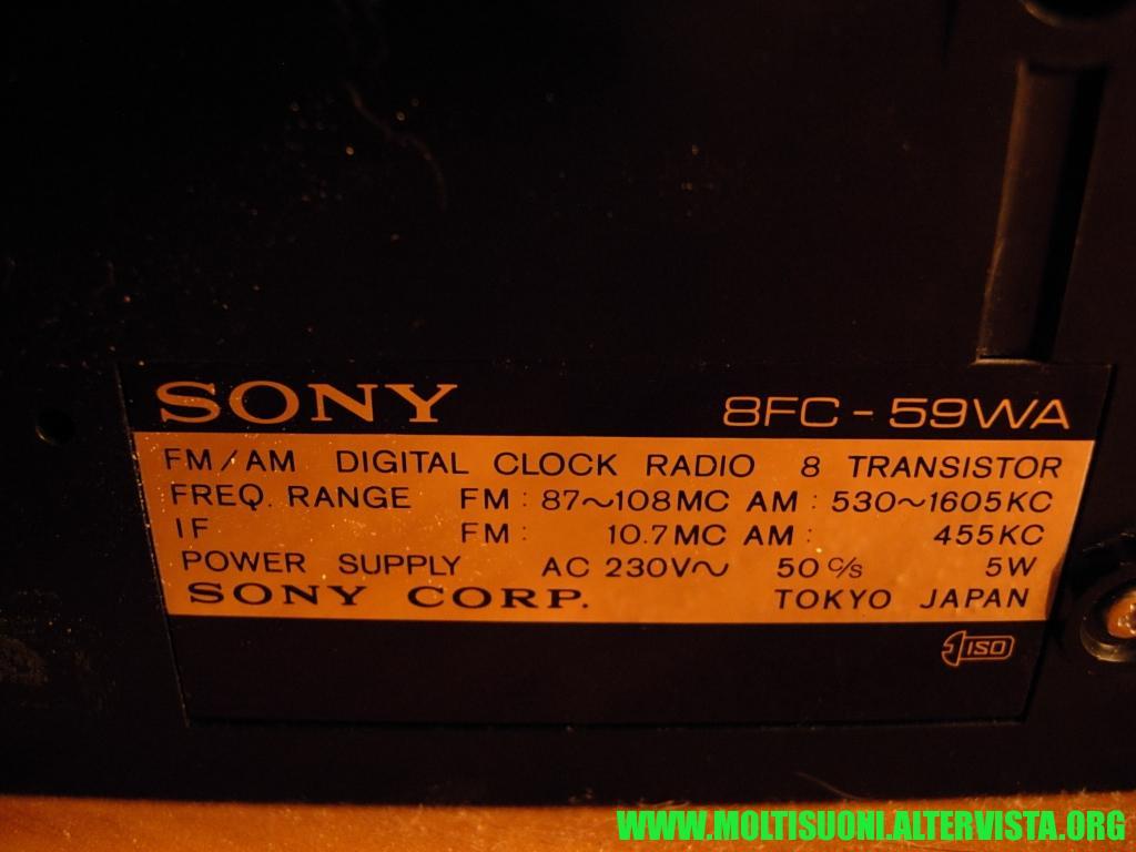 Radiosveglia a cartellini Sony - Moltisuoni 18