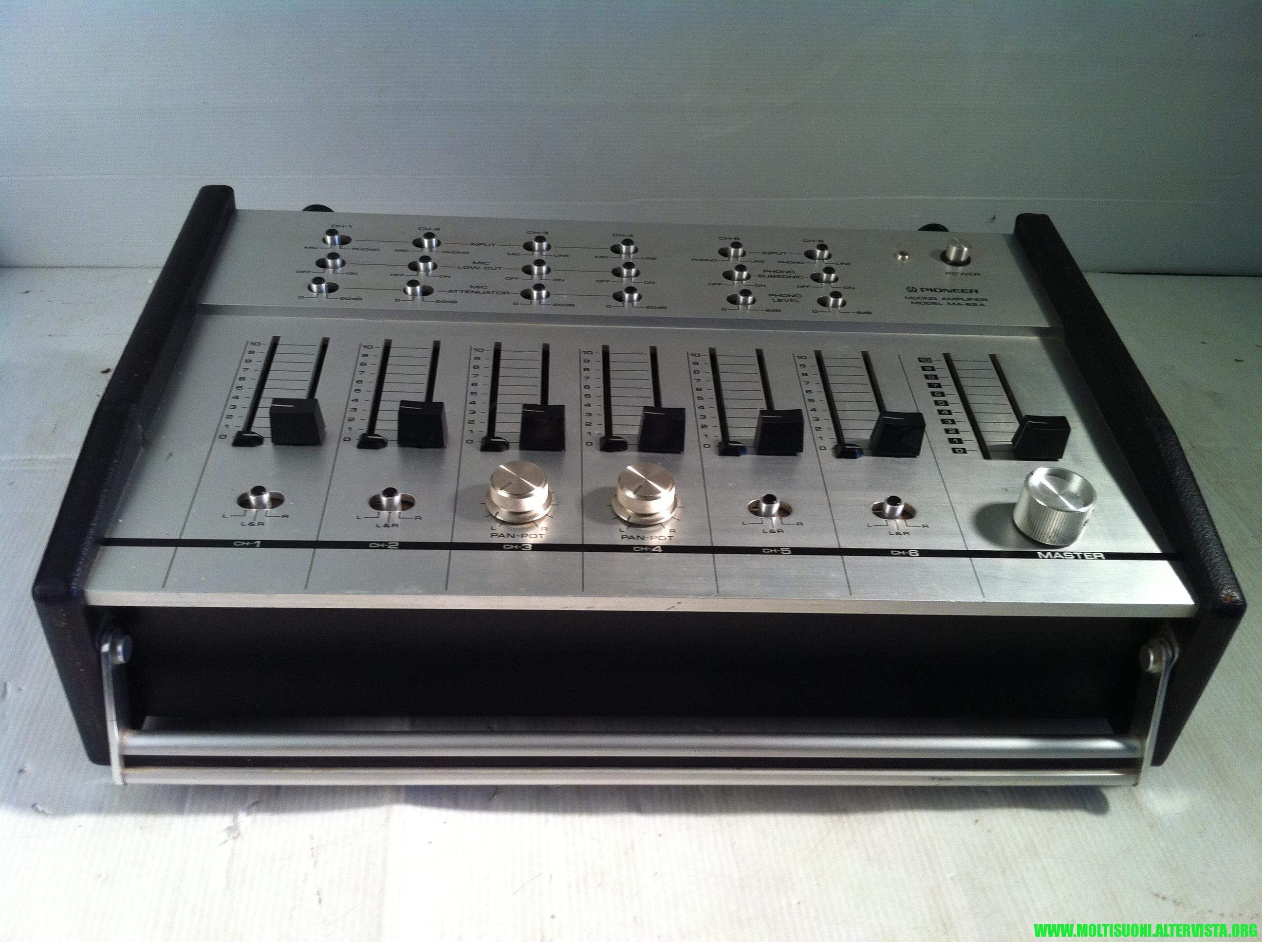 moltisuoni-mixer pioneer MA62A