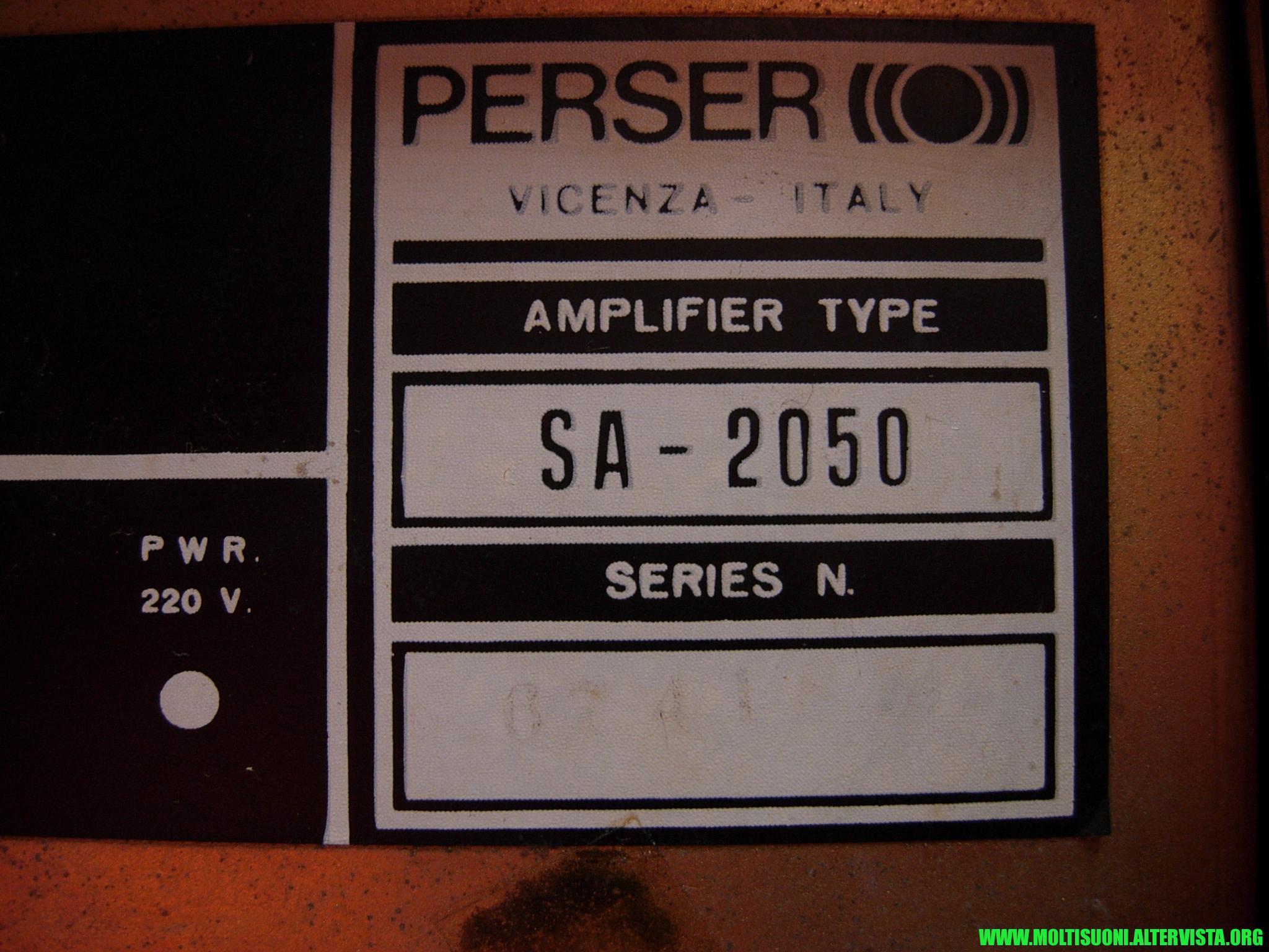 Perser SA2050 - moltisuoni 16