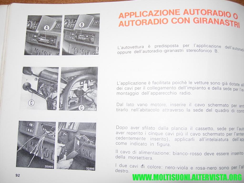 Fiat ritmo montaggio autoradio 1