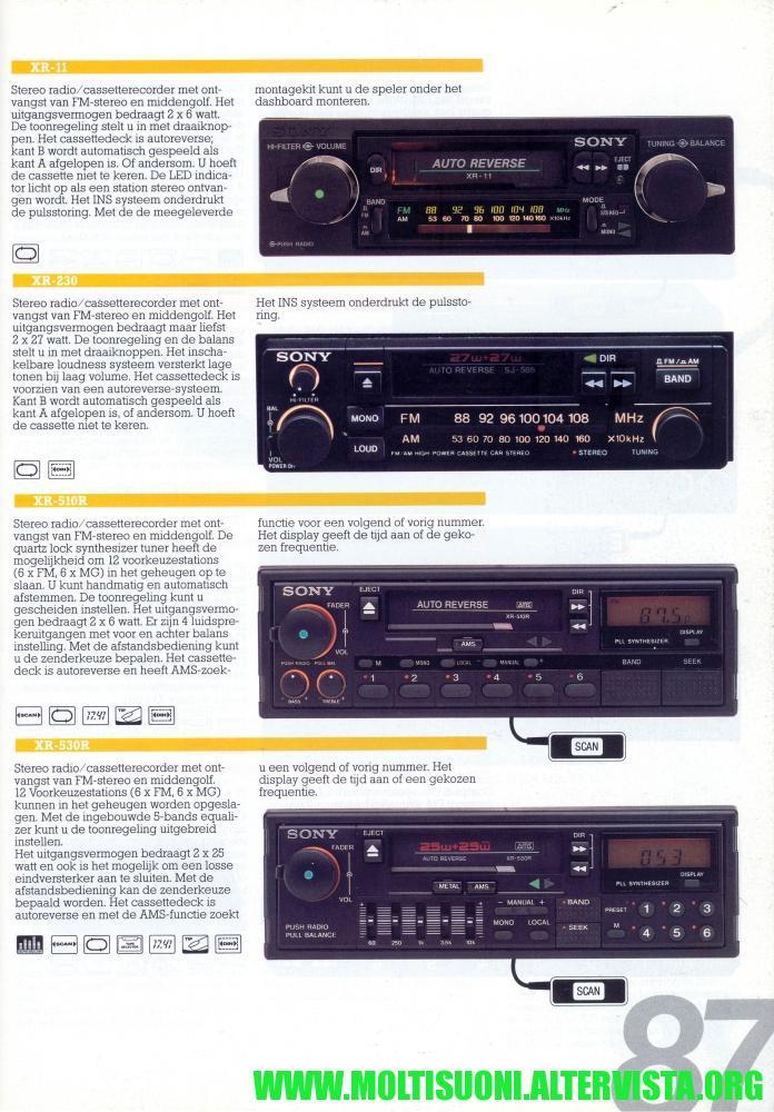 Sony XR510R catalogo - Moltisuoni