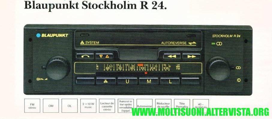 Blaupunkt stockholm r24 - moltisuoni