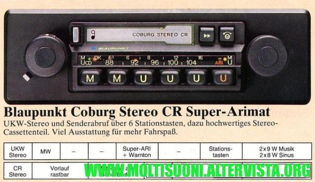 Blaupunkt-Coburg-Stereo CR - moltisuoni