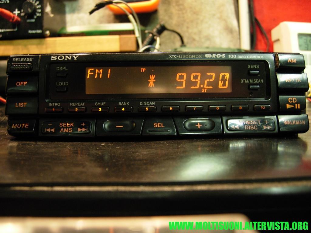 Sony XTC-U200 RDS - Moltisuoni 3