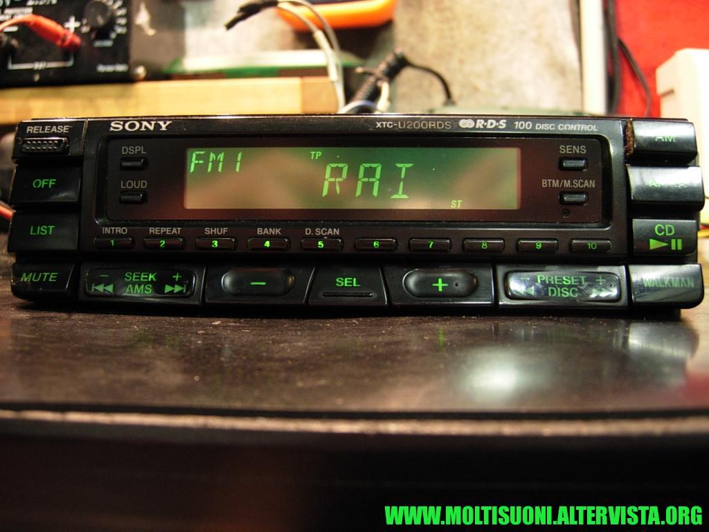 Sony XTC-U200 RDS - Moltisuoni 1