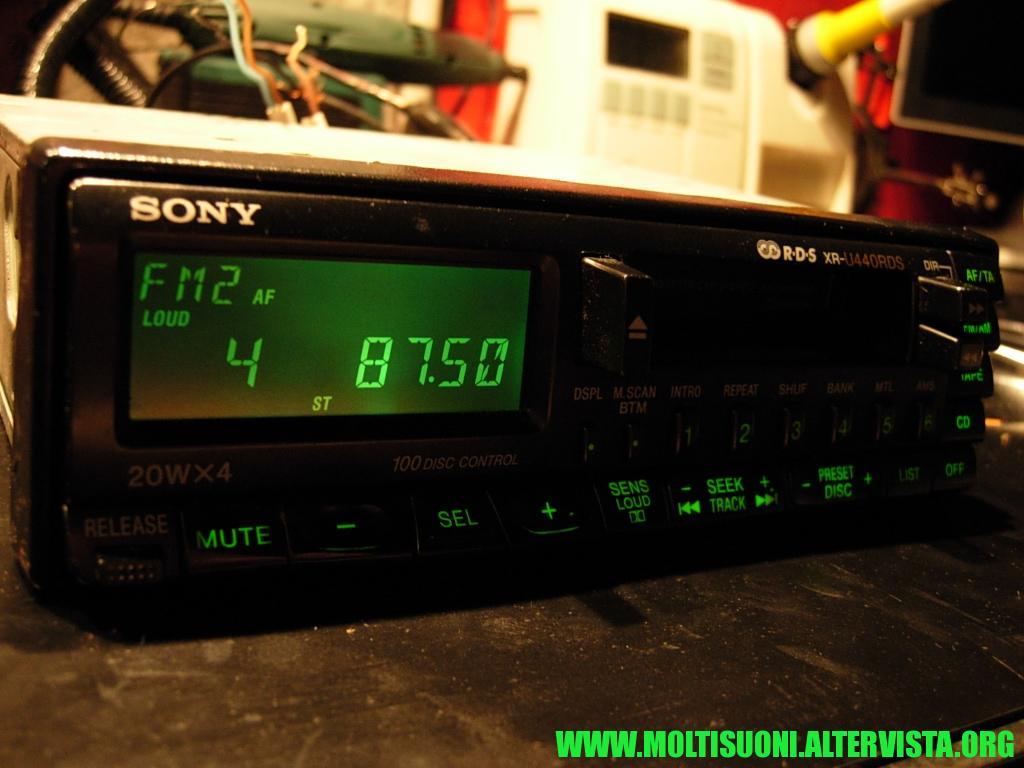 Sony XR-U 440 RDS - Moltisuoni 3
