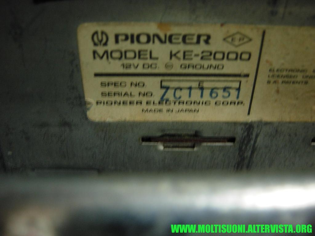 Pioneer KE 2000 - Moltisuoni 1
