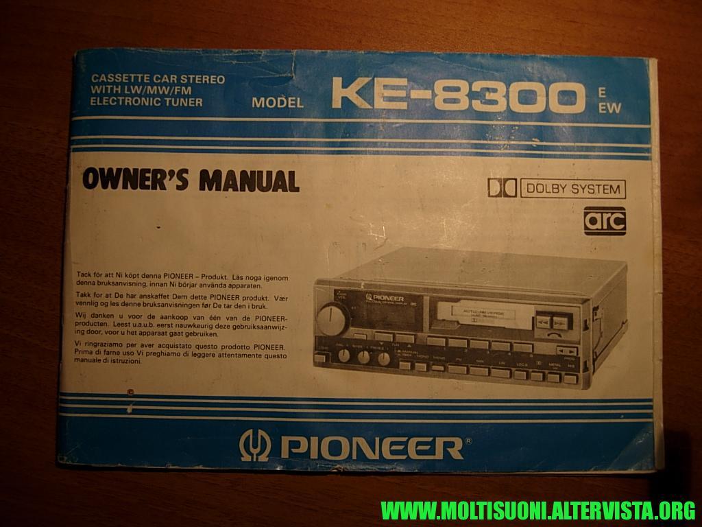 Pioneer KE8300 - Moltisuoni 01
