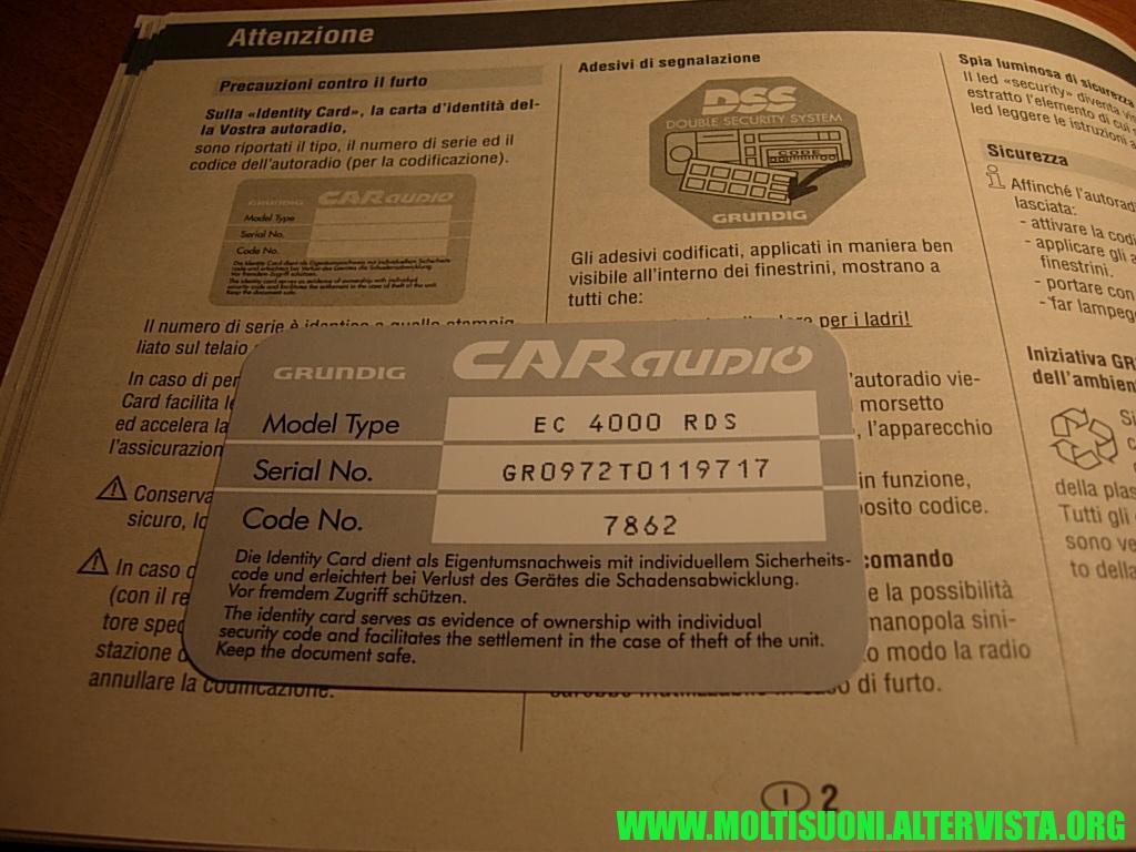 Grundig 4000 RDS - Moltisuoni 02