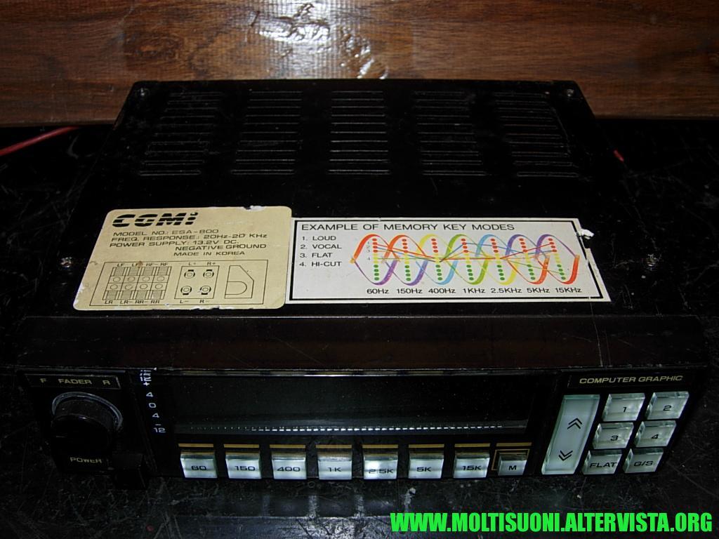Amplificatore-equalizzatore CGMI ESA 800 - moltisuoni 1