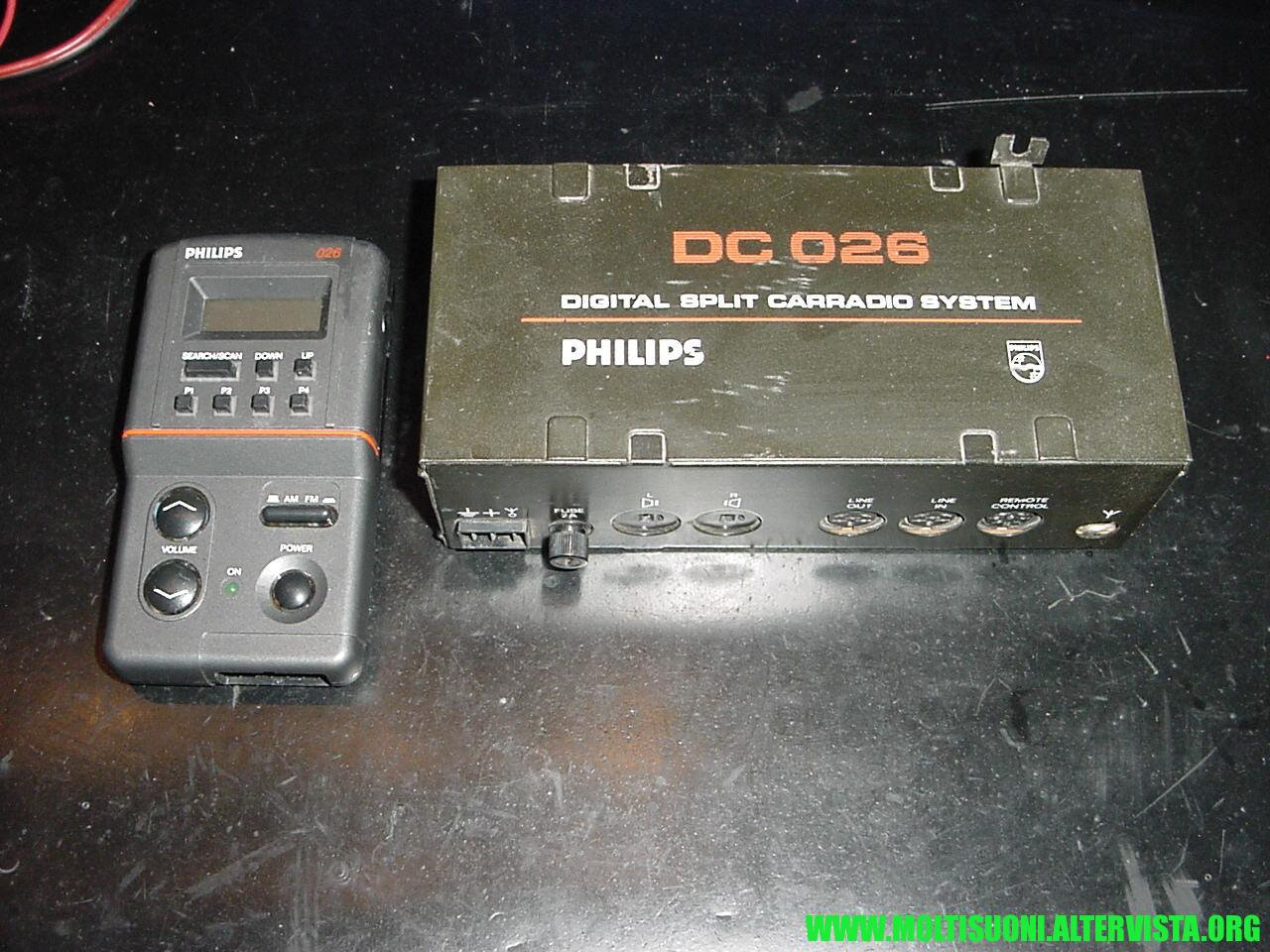 Philips split radio DC 026 - moltisuoni 2