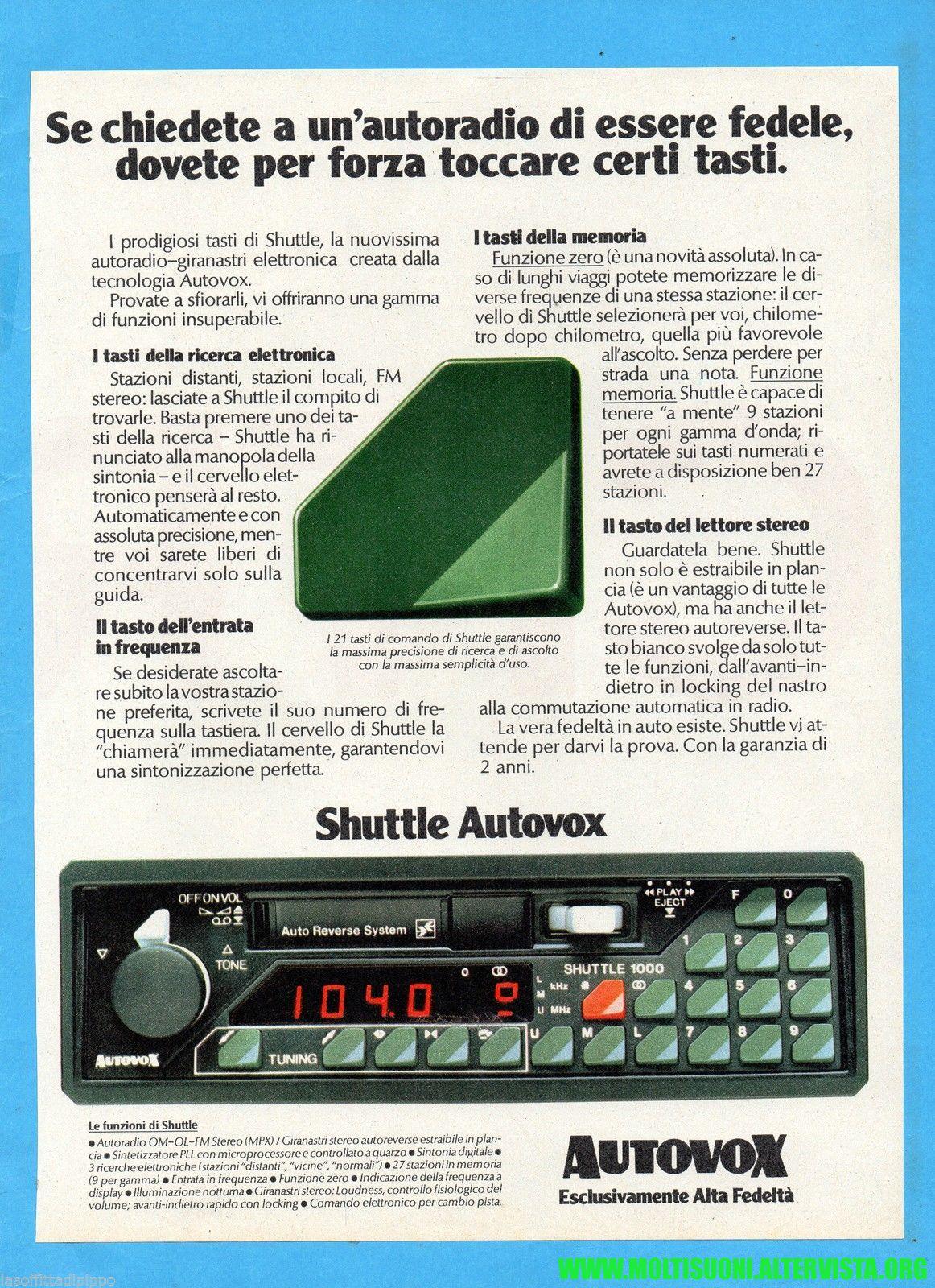 autovox shuttle - moltisuoni