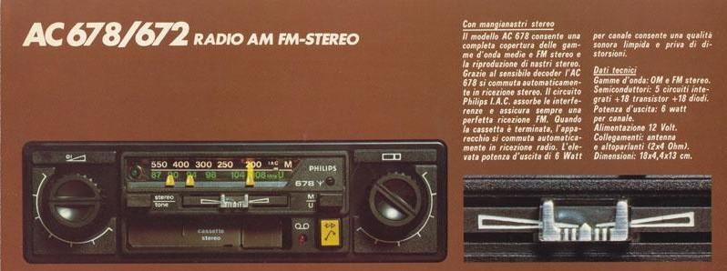 Philips AC 678 - moltisuoni