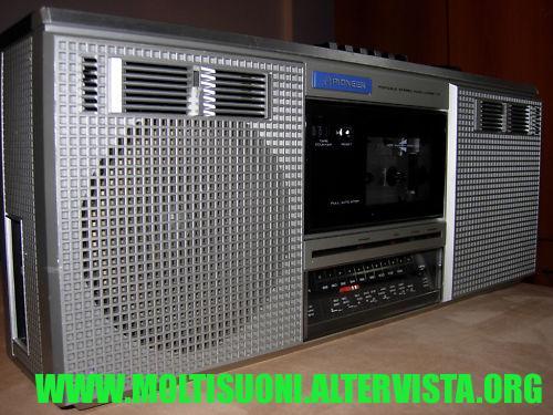 pioneer boombox- moltisuoni
