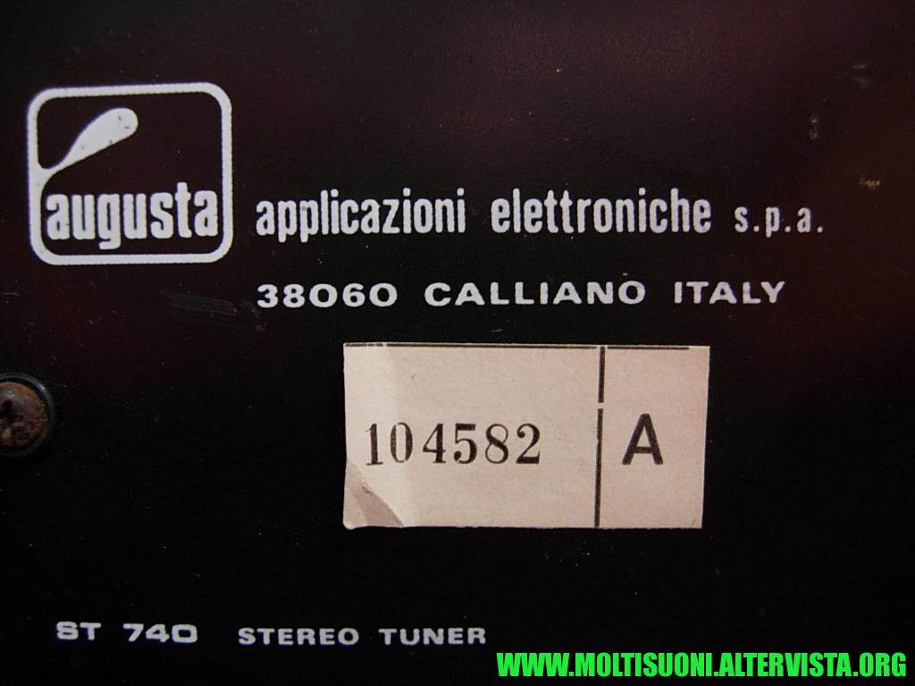Augusta stereo tuner 740 - Moltisuoni 11