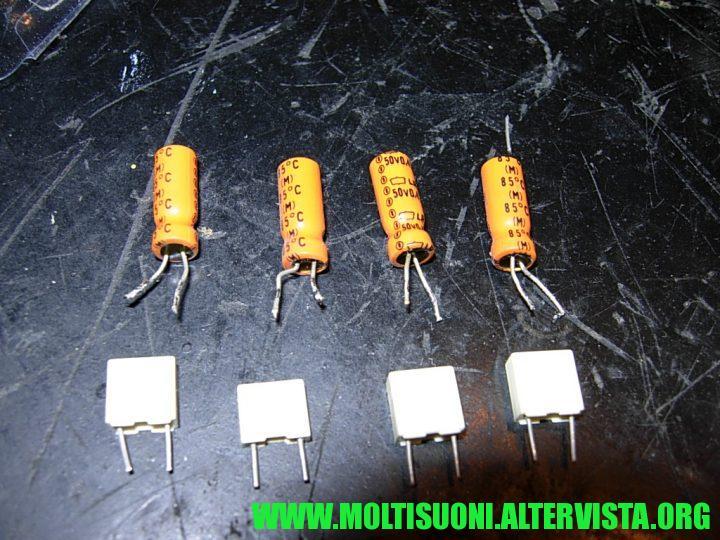 moltisuoni - pioneer SA-508 - elettrolitici
