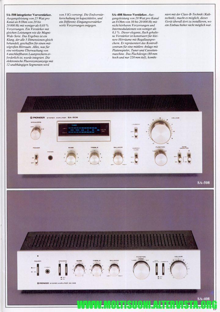 Moltisuoni - Pioneer SA-508 catalogo